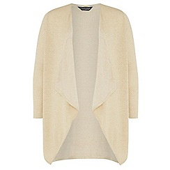 Dorothy Perkins - Dp curve gold waterfall lurex cardigan