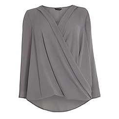 Dorothy Perkins - Dp curve grey long sleeve wrap
