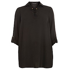 Dorothy Perkins - Dp curve black long sleeve lace blouse