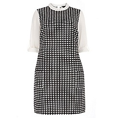 Dorothy Perkins - Curve mono dog tooth check tunic dress