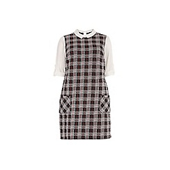 Dorothy Perkins - Curve mono and red check tunic dress