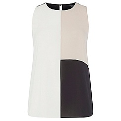 Dorothy Perkins - Dp curve neutral colour block blouse