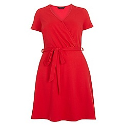 Dorothy Perkins - Dp Curve red wrap dress