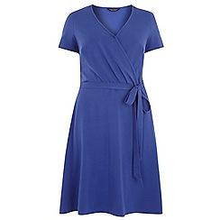 Dorothy Perkins - Dp curve blue wrap jersey dress