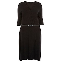 Dorothy Perkins - Dp curve black wrap belted dress
