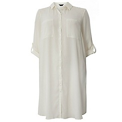 Dorothy Perkins - Dp curve ivory longline jersey shirt