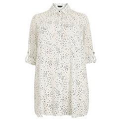 Dorothy Perkins - Dp curve monochrome speckle print longline shirt