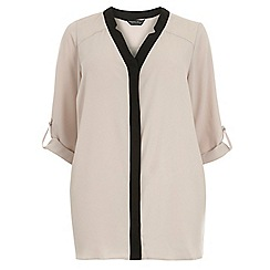 Dorothy Perkins - Dp curve mink notch neck rollsleeve shirt
