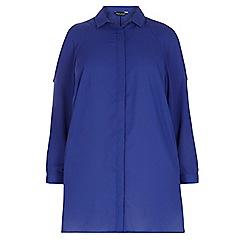 Dorothy Perkins - Dp curve marine blue cold shoulder blouse