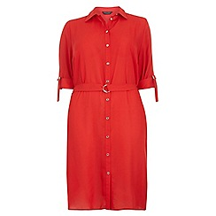 Dorothy Perkins - Dp curve red d-ring shirt dress