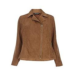 Dorothy Perkins - Dp curve tan suedette biker jacket