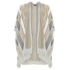 Dorothy Perkins - Dp curve neutral stripe tassel hem cape