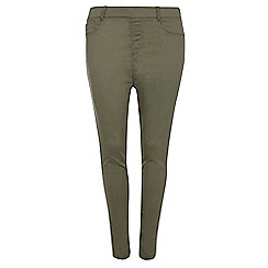 Dorothy Perkins - Dp curve pale khaki capri jeggings