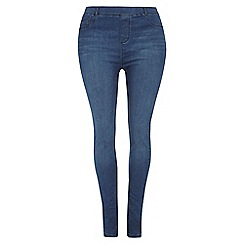 Dorothy Perkins - Dp curve mid wash jegging