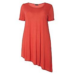 Dorothy Perkins - Dp curve khaki asymmetric t-shirt
