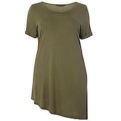 Dorothy Perkins - Dp curve coral asymmetric t-shirt