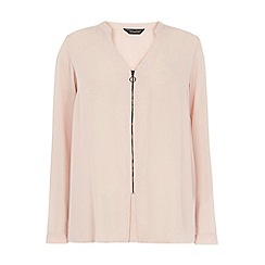 Dorothy Perkins - Dp curve blush zip front blouse