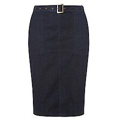 Dorothy Perkins - Dp curve indigo belted skirt