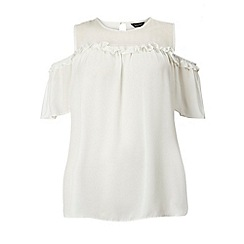Dorothy Perkins - Dp curve ivory cold shoulder blouse