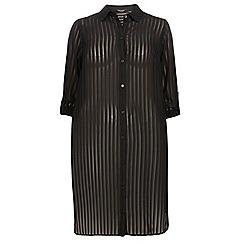 Dorothy Perkins - Dp curve black roll sleeve maxi shirt