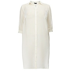 Dorothy Perkins - Dp curve ivory roll sleeve maxi shirt