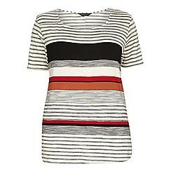 Dorothy Perkins - Dp curve orange engineered stripe t-shirt