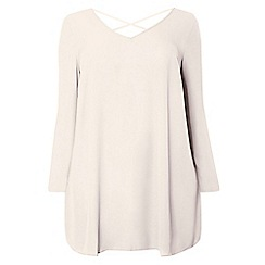 Dorothy Perkins - Dp curve mink cross back detail blouse