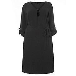 Dorothy Perkins - Dp curve black zip front dress