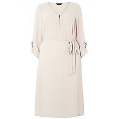 Dorothy Perkins - Dp curve mink zip front dress