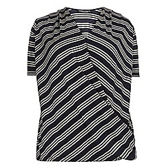 Dorothy Perkins - Dp curve navy and white stripe top