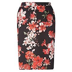 Dorothy Perkins - Curve floral scuba skirt
