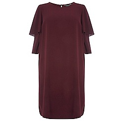 Dorothy Perkins - Dp curve burgundy double frill sleeves shift dress