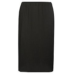 Dorothy Perkins - Dp curve black pleated midi skirt