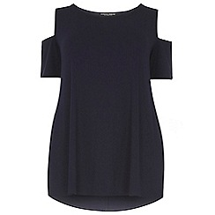 Dorothy Perkins - Dp curve navy cold shoulder detailed top