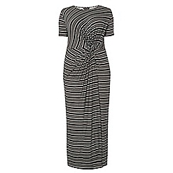 Dorothy Perkins - Dp curve blush stripe knot front maxi dress