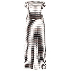 Dorothy Perkins - Dp curve chocolate stripe t-shirt
