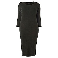 Dorothy Perkins - Dp curve green knitted midi dress