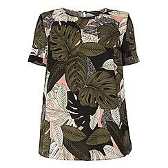 Dorothy Perkins - Dp curve pink tropical print soft t-shirt