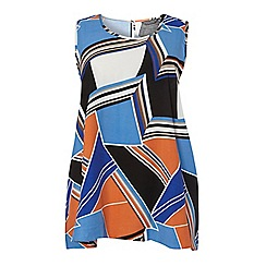 Dorothy Perkins - Dp curve orange abstract built up camisole top