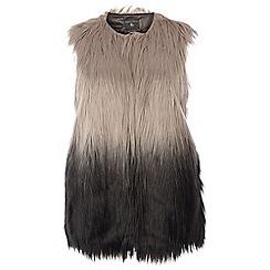 Dorothy Perkins - Dp curve black and grey faux fur gilet