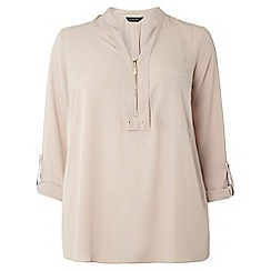 Dorothy Perkins - Dp curve mink notch neck zip shirt