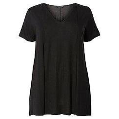 Dorothy Perkins - Dp curve black pleat front t-shirt
