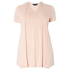 Dorothy Perkins - Dp curve blush pleat front tee