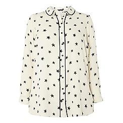 Dorothy Perkins - Dp curve black star print pipe shirt