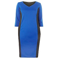 Dorothy Perkins - Dp curve cobalt and black block dress