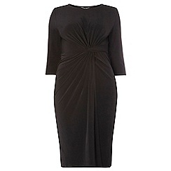 Dorothy Perkins - Dp curve black knot front dress