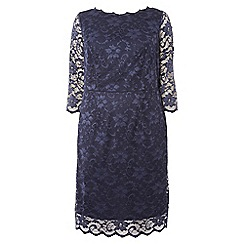 Dorothy Perkins - Dp curve navy lace bardot bodycon dress