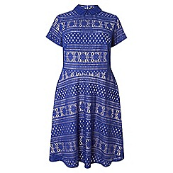 Dorothy Perkins - Dp curve cobalt collared lace dress
