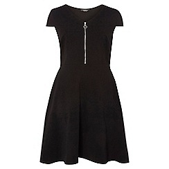 Dorothy Perkins - Dp curve black zip front fit and flare dress