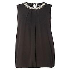 Dorothy Perkins - Dp curve black bubble hem embellished top